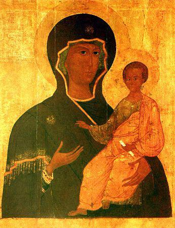 Икона Богородицы «Одигитрия ...: agios-icon.ru/agios/bozhiya_mater_odigitriya_smolenskaya/828/prayers