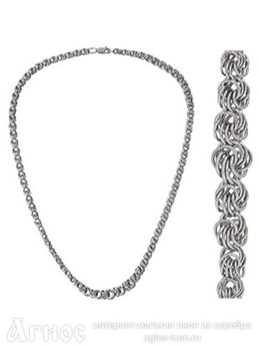Женское плетение цепочек из серебра